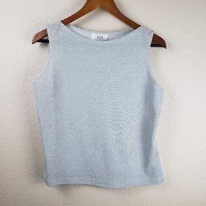 AGB Byer California Silver Shimmer Dressy Tank Top